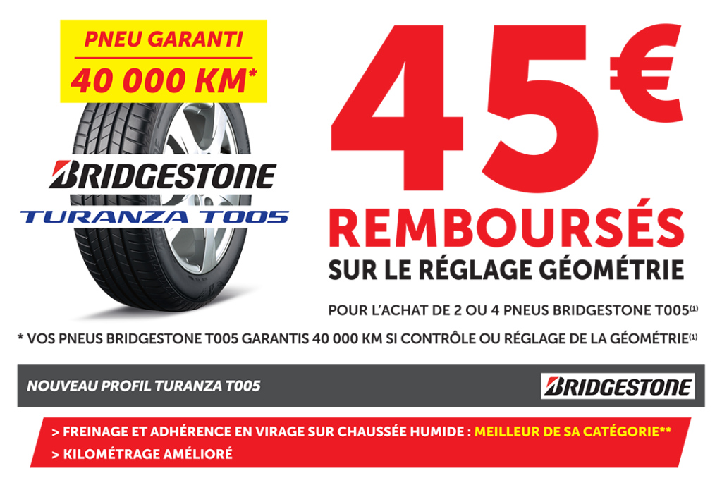 offre bridgestone 40 rembours s roady tain l 39 hermitage saint jean de muzols. Black Bedroom Furniture Sets. Home Design Ideas